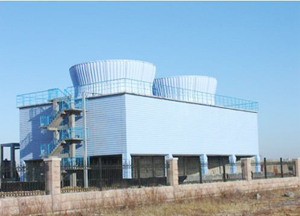Industrial Cooling Tower of Reinforced Concrete Frame
